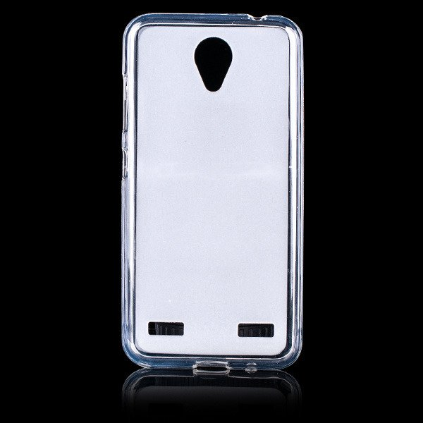 BACK CASE MATT COVER GEL RUBBER JELLY ZTE BLADE A520 TRANSPARENT