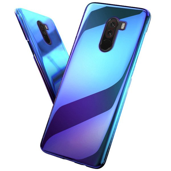 pretty nice 60820 5696e BACK CASE COVER BLUERAY BLUE-RAY HARD XIAOMI POCOPHONE F1 + GLASS 9H