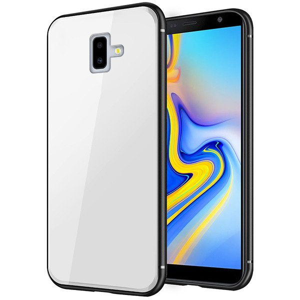 huge selection of bc6e6 c9bfc BACK GLASS CASE COVER SAMSUNG GALAXY J6+ PLUS J610 WHITE