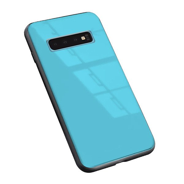 BACK GLASS CASE COVER SAMSUNG GALAXY S10 SM-G973 BLUE