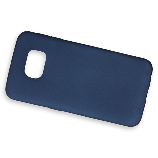 low priced 227a6 68557 BACK RUBBER CASE COVER SAMSUNG GALAXY S6 EDGE SM-G925 0.3mm NAVY BLUE