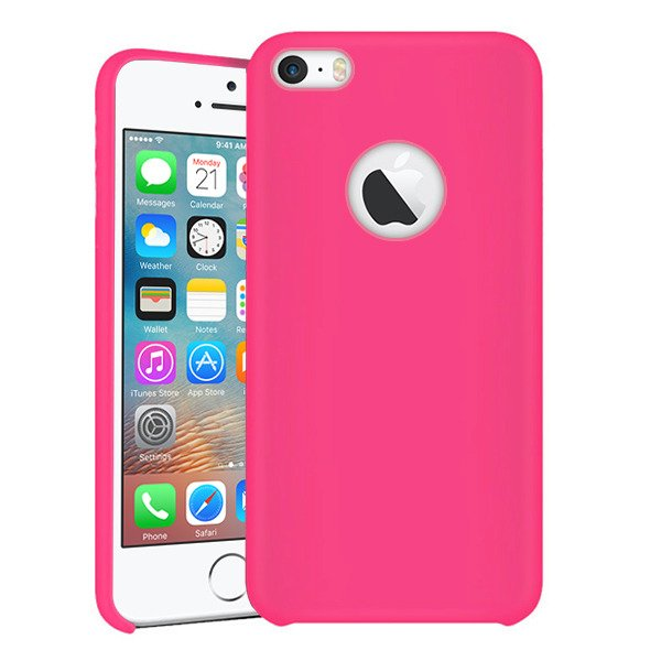 buy popular a2ff1 660ac BACK STYLE CASE COVER IPHONE SE 5 5S PINK + GLASS