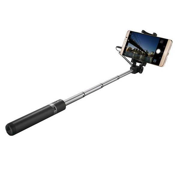 BLACK SELFIE STICK BLUETOOTH MONOPOD HANDLE SELFIES HOLDER