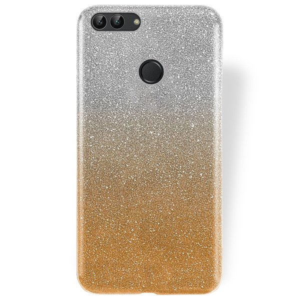 half off 16680 17335 BLING CASE COVER GLITTER BROCADE HUAWEI P SMART GOLD + GLASS 9H