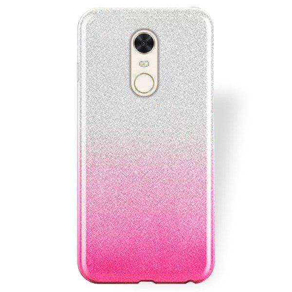 Bling Case Cover Glitter Brocade Xiaomi Redmi 5 Plus Pink 89194