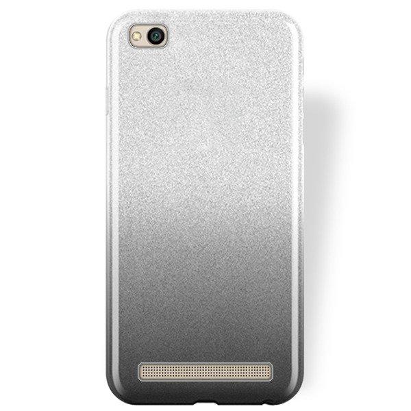 low priced 20c31 85b96 BLING CASE COVER GLITTER XIAOMI REDMI 5A BLACK + GLASS 9H