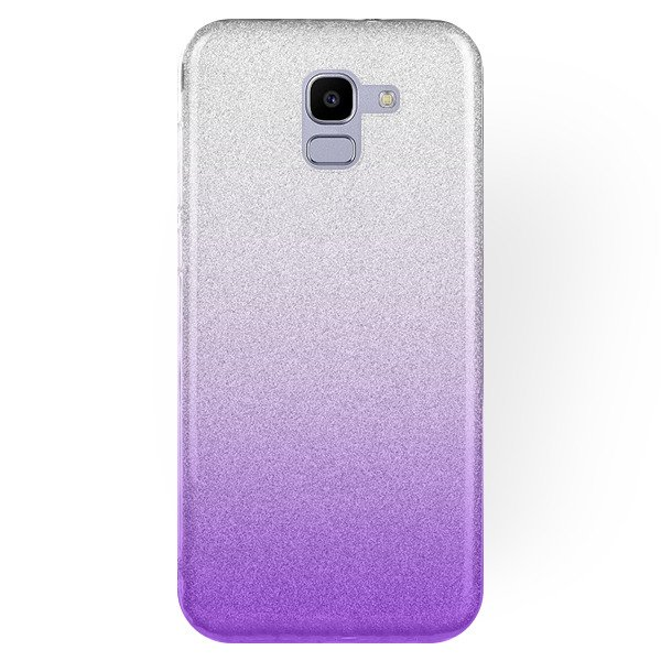 reputable site f4546 ff36a BLING CASE COVER GLITTER SAMSUNG GALAXY J6 2018 SM-J600 PURPLE +GLASS