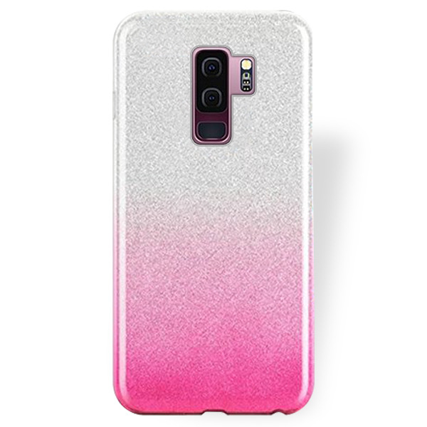 watch d3c14 35ae8 BLING CASE COVER GLITTER SAMSUNG GALAXY S9 PLUS SM-G965 PINK + GLASS