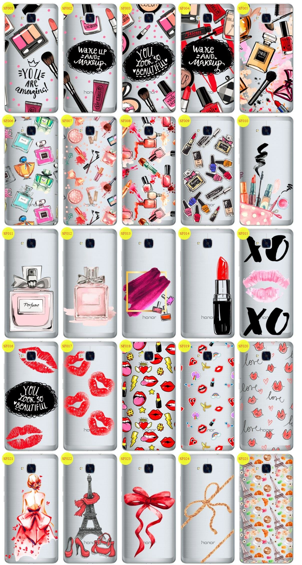 Back Case Cover Overprint Kreatui FASHION HUAWEI HONOR 5C + GLASS 9H