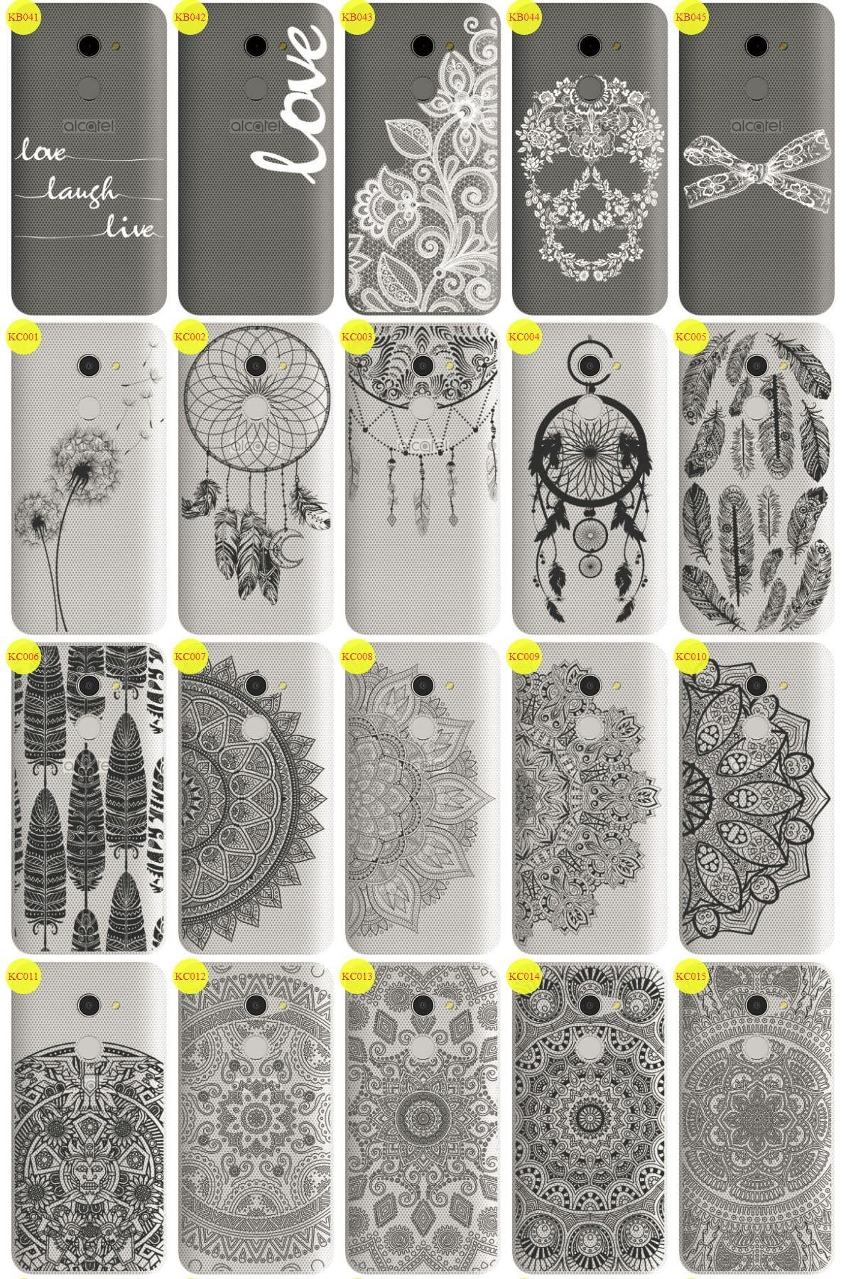 Back Case Cover Overprint Kreatui LaceCase ALCATEL A3 5.0