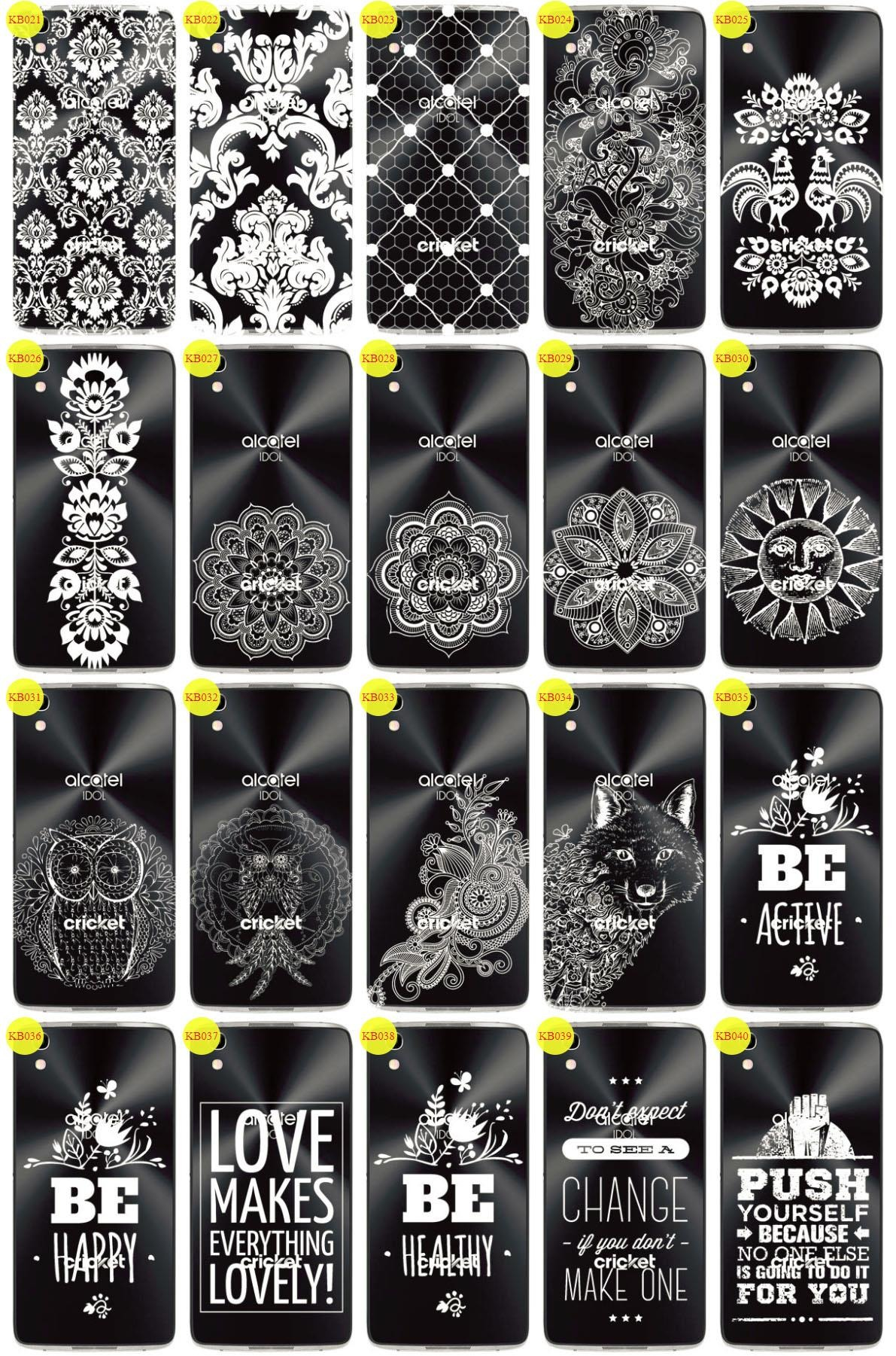 Back Case Cover Overprint Kreatui LaceCase ALCATEL IDOL 4 + GLASS 9H