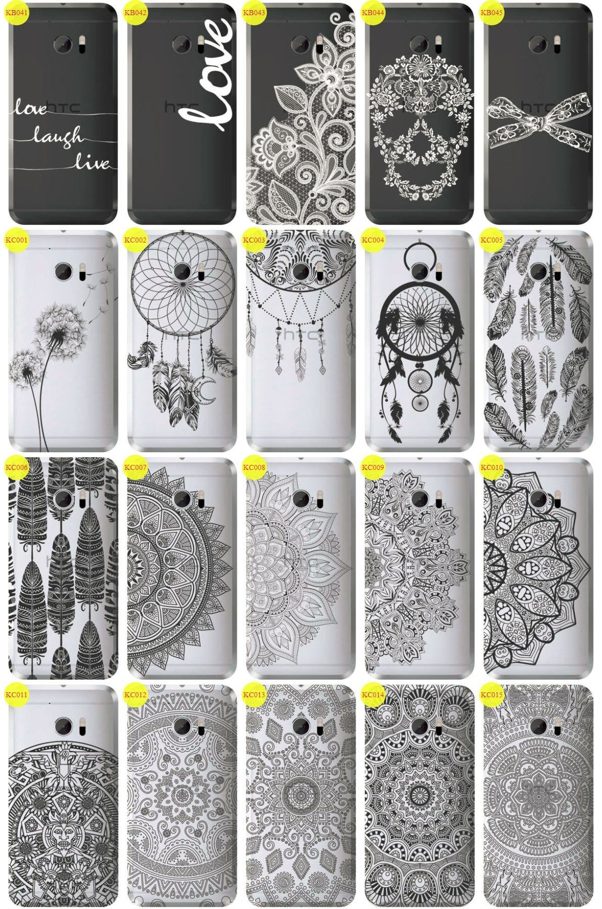 Back Case Cover Overprint Kreatui LaceCase HTC 10