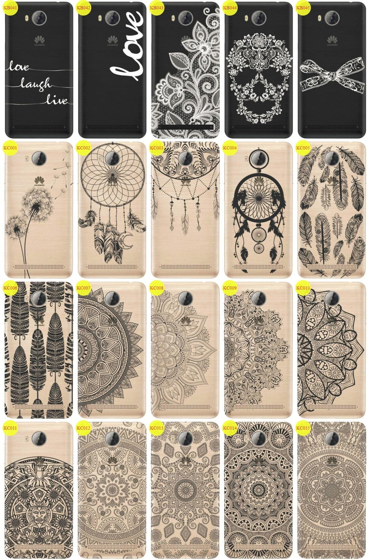Back Case Cover Overprint Kreatui LaceCase HUAWEI Y3 II 2