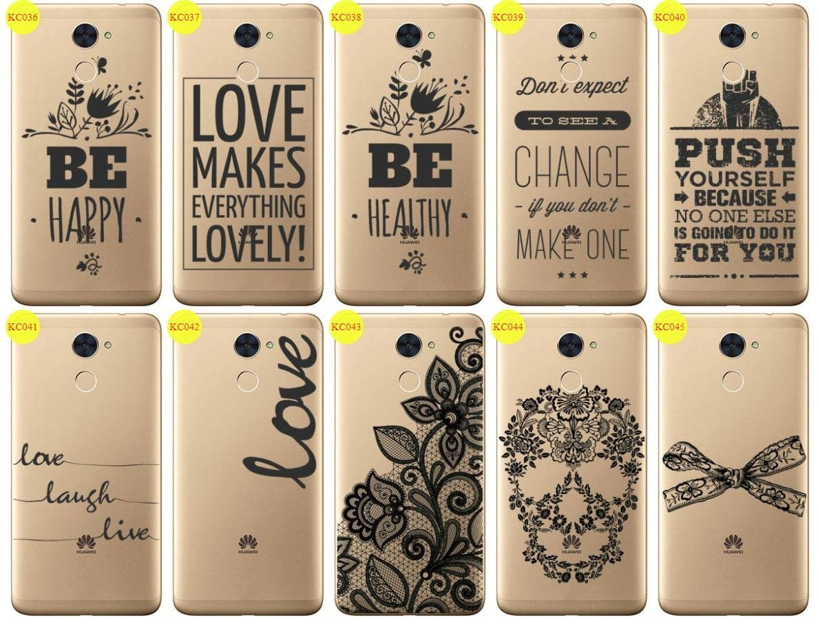Back Case Cover Overprint Kreatui LaceCase HUAWEI Y7 + GLASS 9H