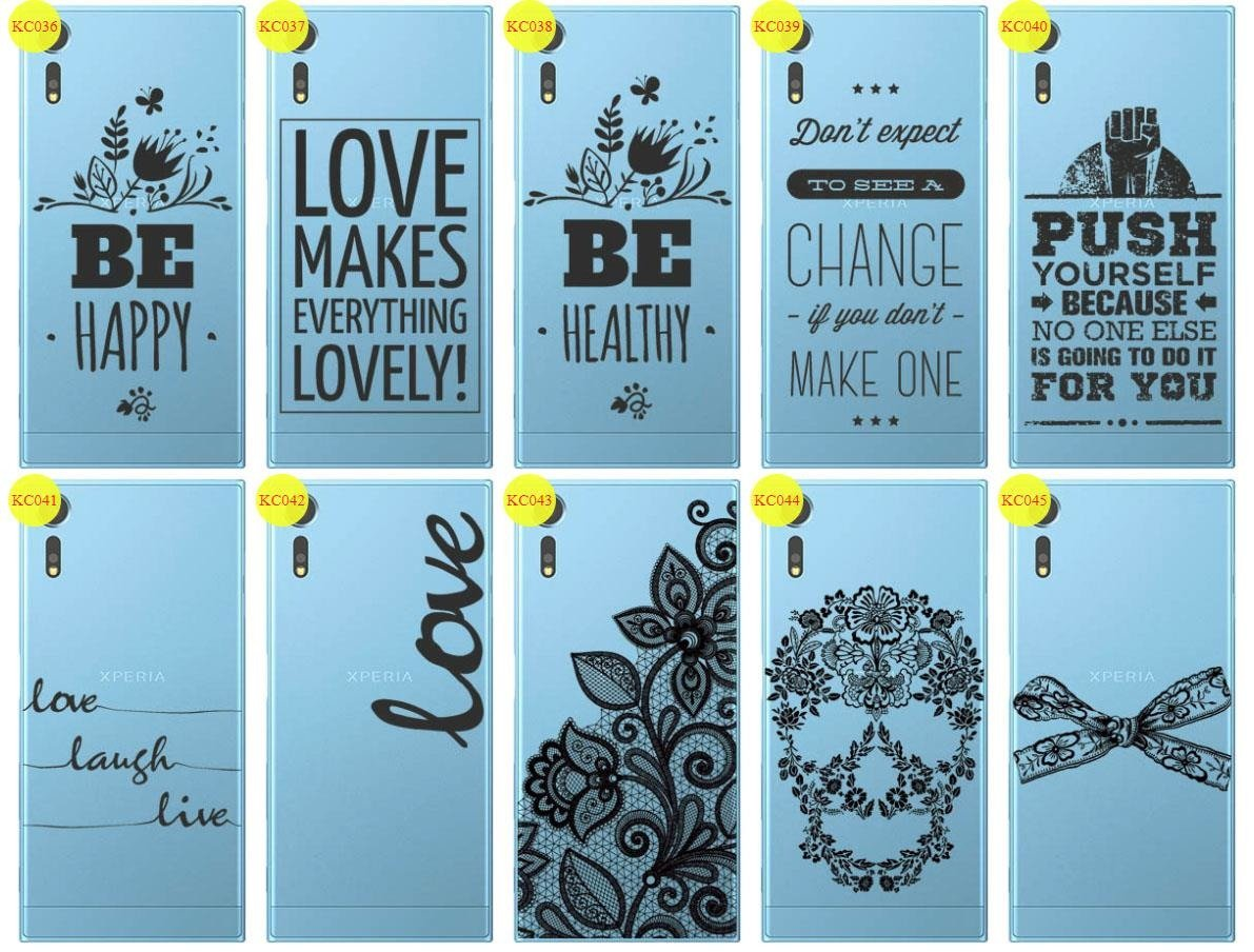 Back Case Cover Overprint Kreatui LaceCase SONY XPERIA XZS