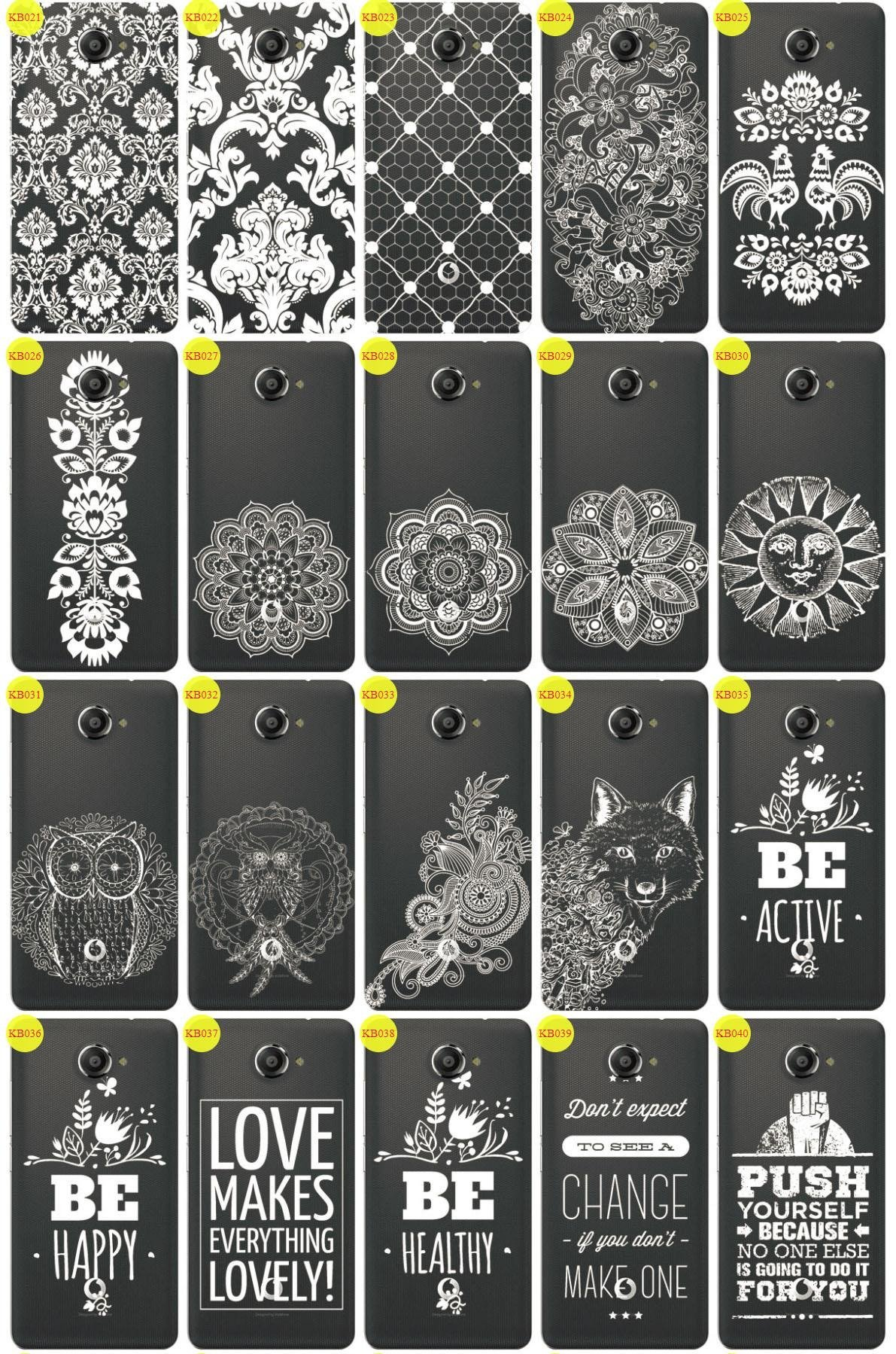 Back Case Cover Overprint Kreatui LaceCase VODAFONE SMART ULTRA 7