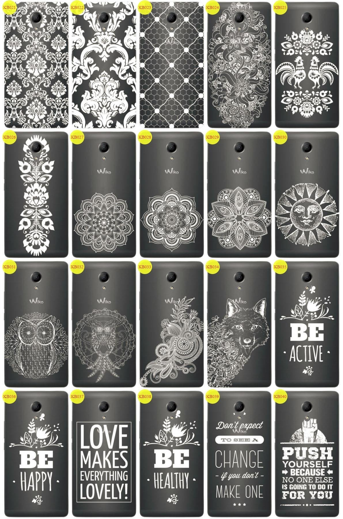 Back Case Cover Overprint Kreatui LaceCase WIKO ROBBY