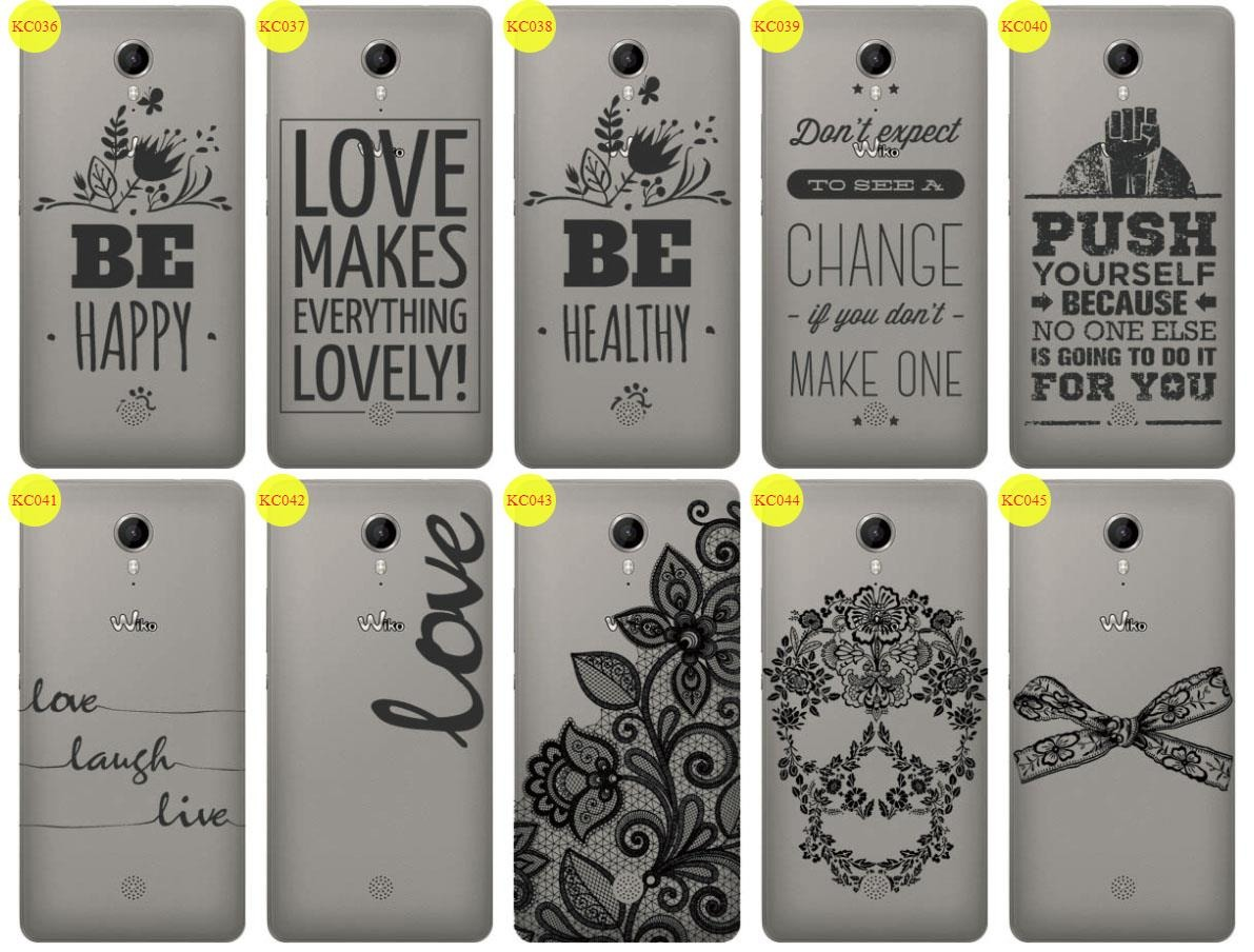 Back Case Cover Overprint Kreatui LaceCase WIKO TOMMY + GLASS 9H