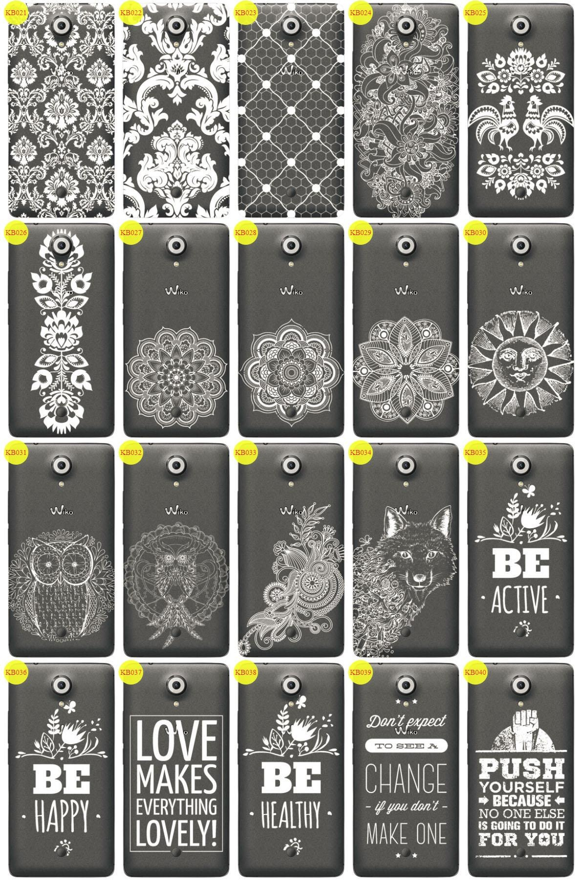 Back Case Cover Overprint Kreatui LaceCase WIKO UFEEL + GLASS 9H