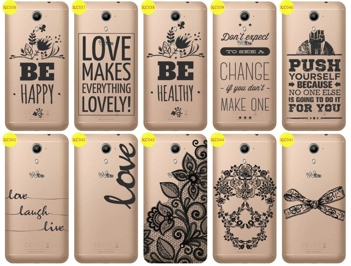 Back Case Cover Overprint Kreatui LaceCase WIKO UFEEL PRIME + GLASS 9H