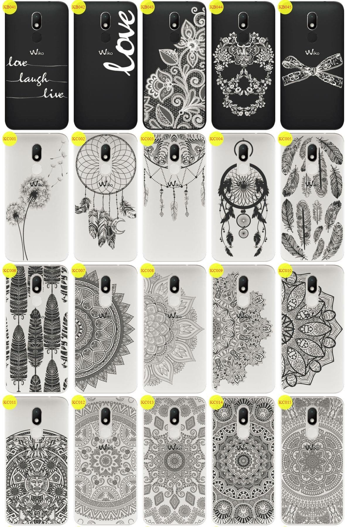 Back Case Cover Overprint Kreatui LaceCase WIKO WIM LITE + GLASS 9H