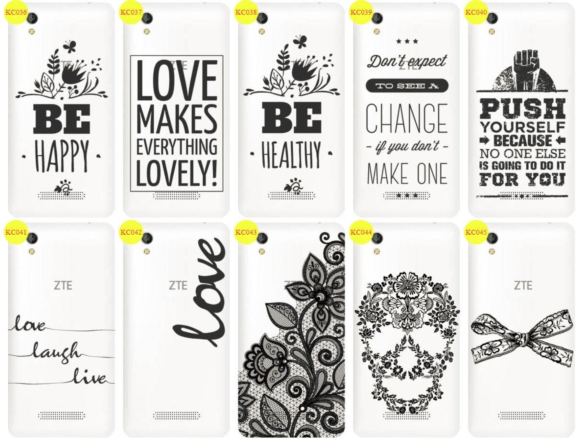 Back Case Cover Overprint Kreatui LaceCase ZTE BLADE A452 + GLASS 9H