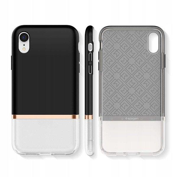 info for 376dc ee89b Back case Spigen La Manon Jupe Series cover Milk Black for IPHONE XR +  GLASS 9H