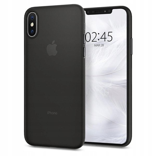 on sale ae0e0 3d69b Back case Spigen series AirSkin 0.4mm thick black cover for IPHONE XS MAX