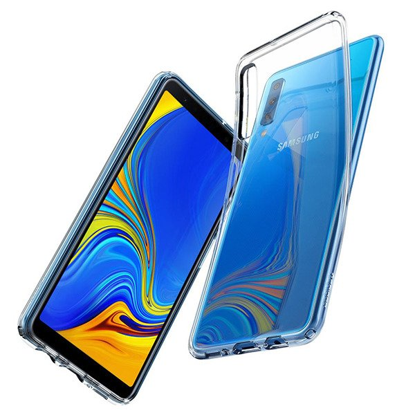 hot sale online c3627 526fb Back case Spigen series Liquid Crystal Crystal Clear cover for SAMSUNG  GALAXY A7 2018 SM-A750