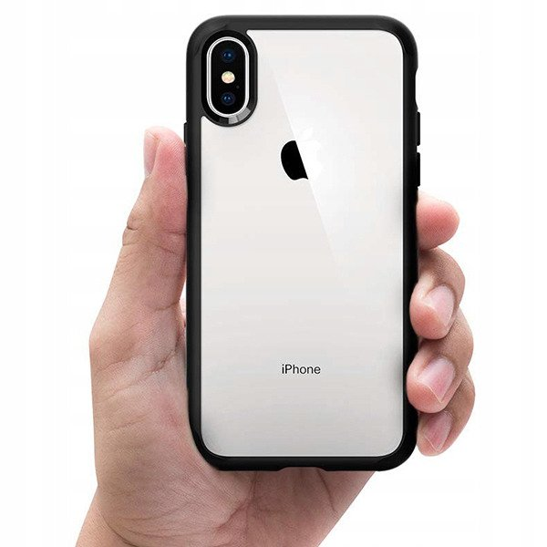 best service 3159e bb661 Back case Spigen series Ultra Hybrid Matte Black cover for IPHONE XS MAX +  GLASS 9H