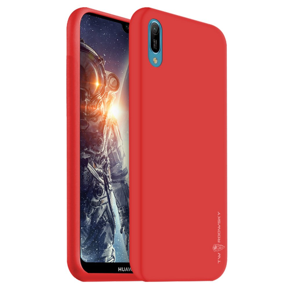 new product 50229 7e5c8 Back case Twardowsky Red Hole space cover for HUAWEI Y6 2019 / Y6 PRO 2019  + Twardowsky glass 9H