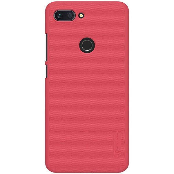 factory price 2110e 623f2 Back case for XIAOMI MI8 LITE / MI 8 LITE of Nillkin series Super Frosted  Shield red cover + GLASS 9H