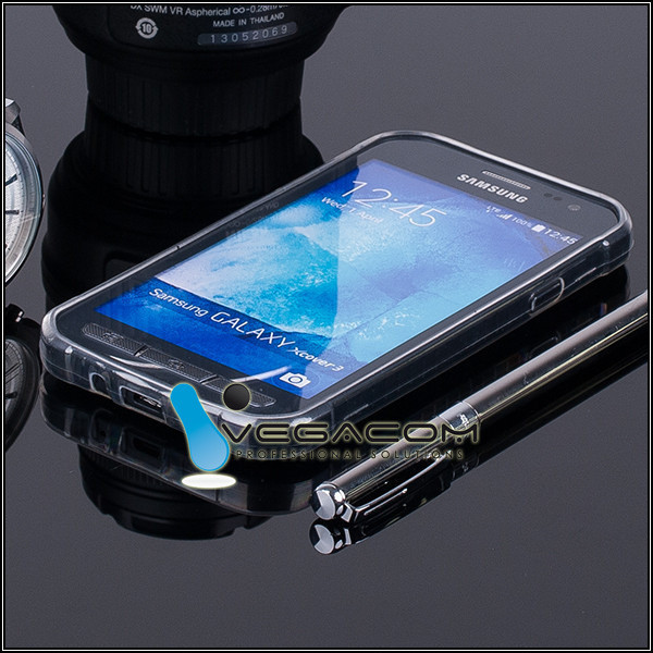 reputable site 3c558 9a01a CASE COVER GALAXY XCOVER 3 SM-G388 slim 0.3mm TRANSPARENT + PROTECTOR