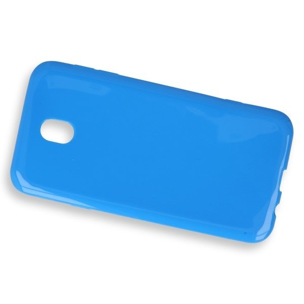 CASE COVER GEL RUBBER JELLY SAMSUNG GALAXY J7 2017 SM-J730 BLUE