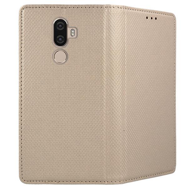 factory price 3e955 03029 CASE COVER Magnetic SmartCase LENOVO K8 NOTE GOLD + GLASS 9H