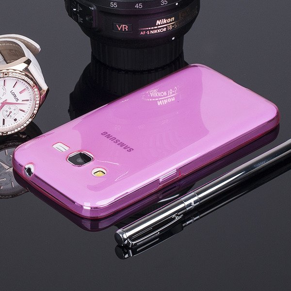 CASE COVER SAMSUNG GALAXY CORE 2 G355 slim 0.3mm PINK NO WATER VAPOR