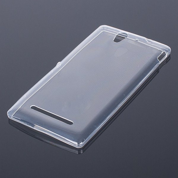 CASE COVER SONY XPERIA C3 D2533 slim 0.3mm TRANSPARENT NO WATER VAPOR