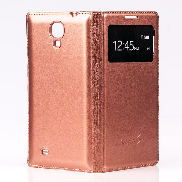 CASE COVER TPU WINDOW VIEW FOR SAMSUNG GALAXY S4 GT-I9500 GOLD