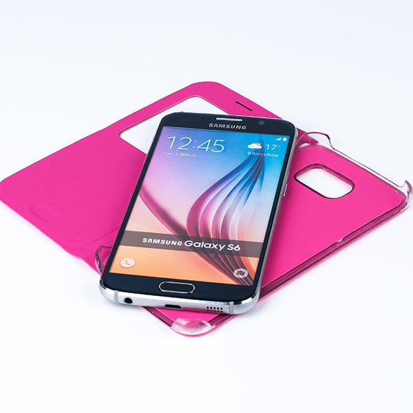 CASE COVER TPU WINDOW VIEW FOR SAMSUNG GALAXY S6 SM-G920 PINK