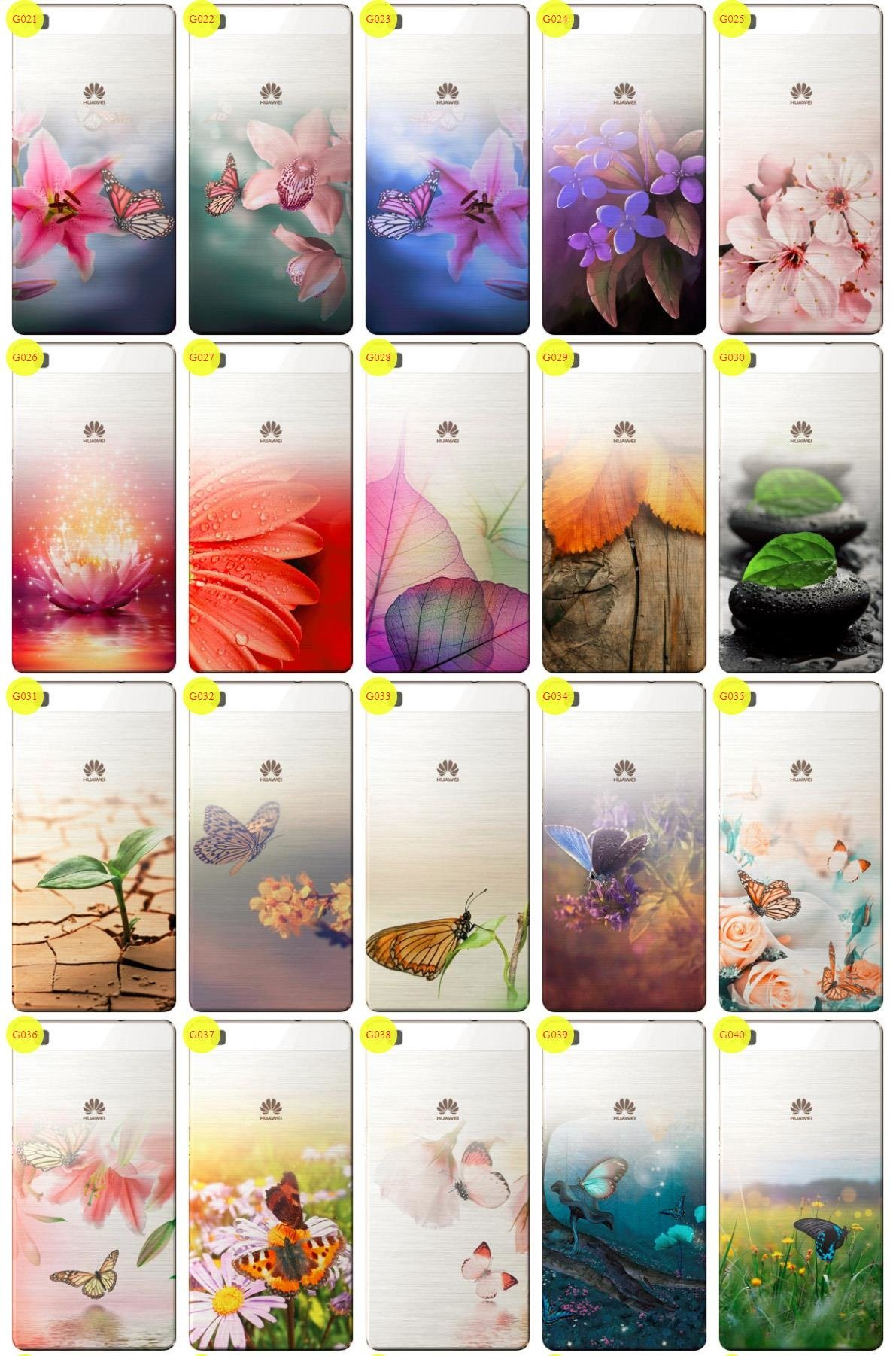 Case Cover Overprint Kreatui GRADIENT HUAWEI P8 + GLASS 9H