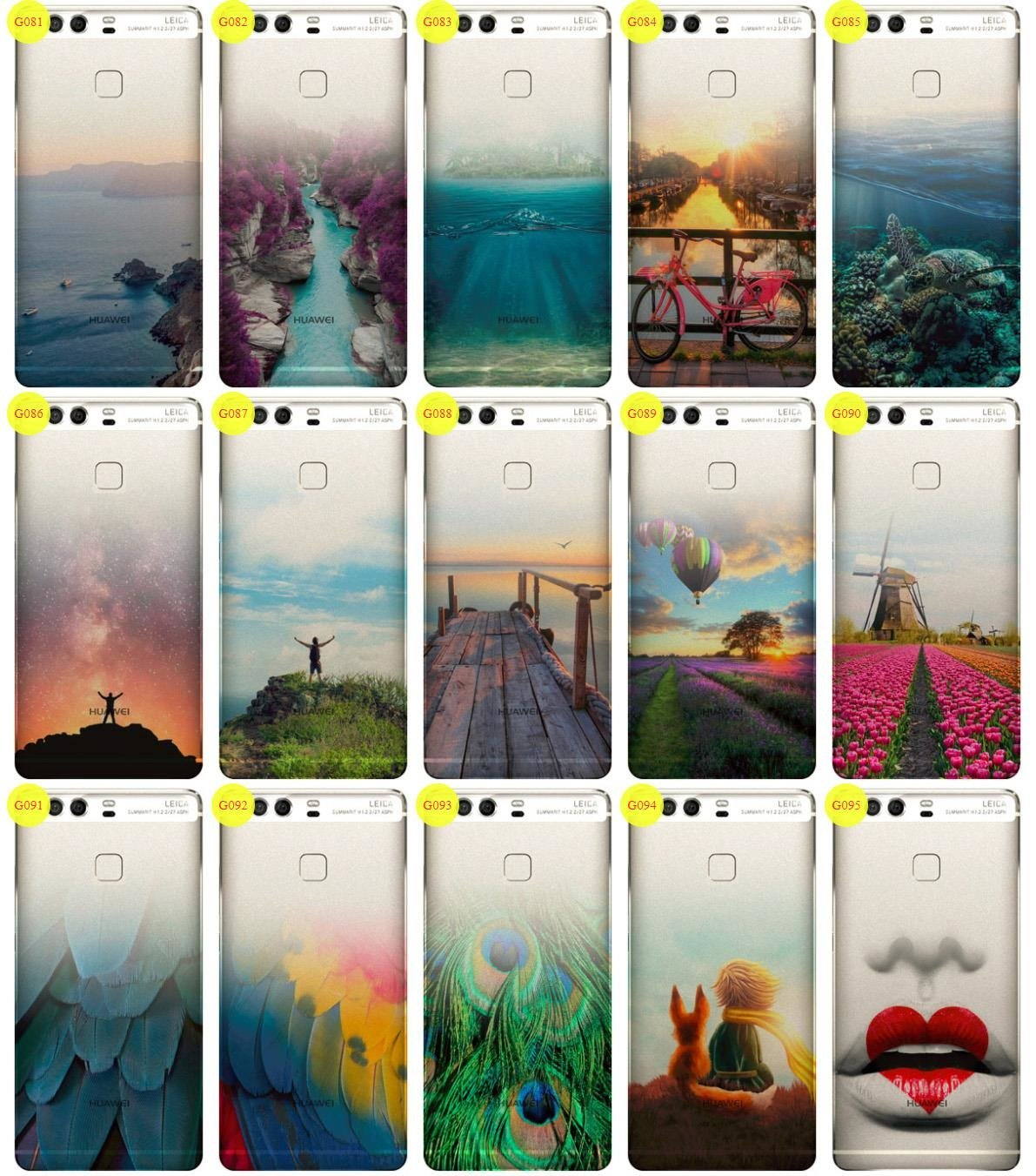Case Cover Overprint Kreatui GRADIENT HUAWEI P9 + GLASS 9H