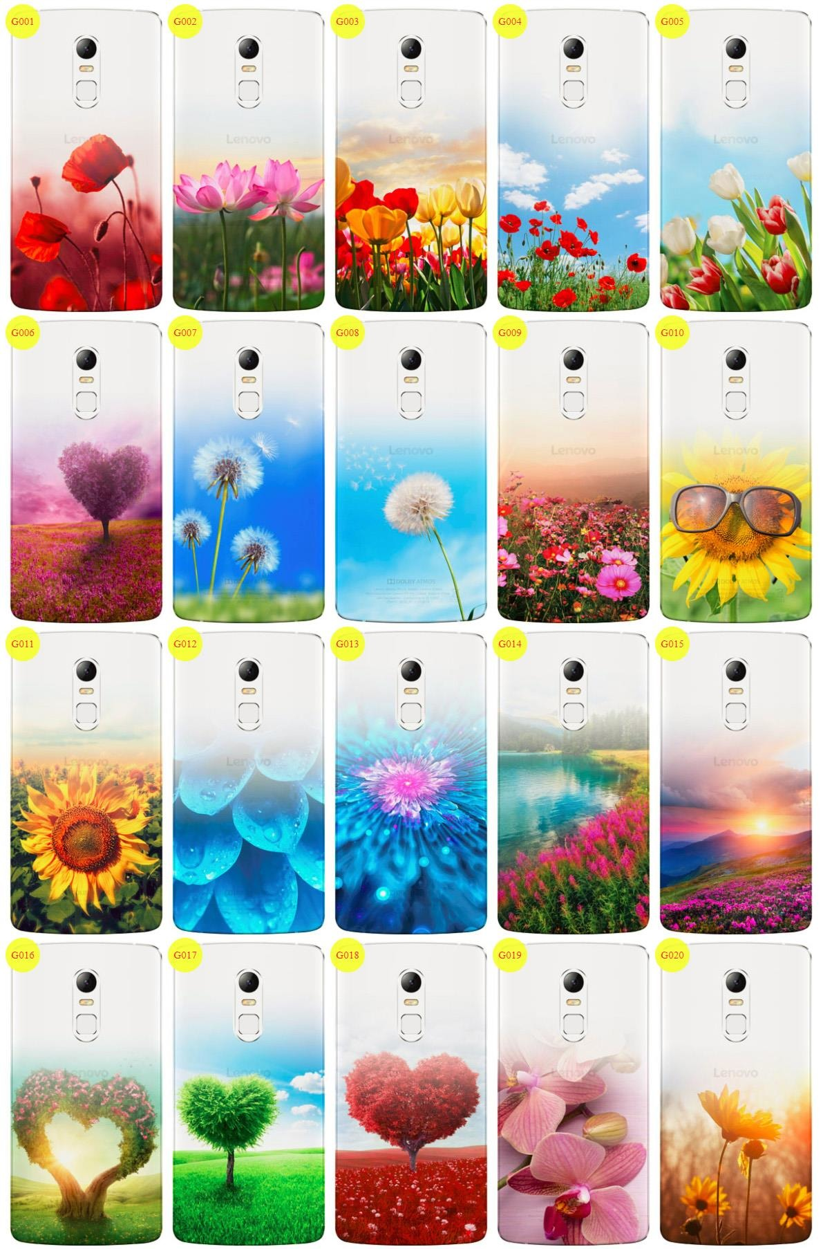 Case Cover Overprint Kreatui GRADIENT LENOVO VIBE X3 + GLASS 9H