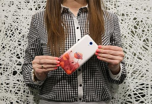 Case Cover Overprint Kreatui GRADIENT MICROSOFT LUMIA 430 + GLASS 9H