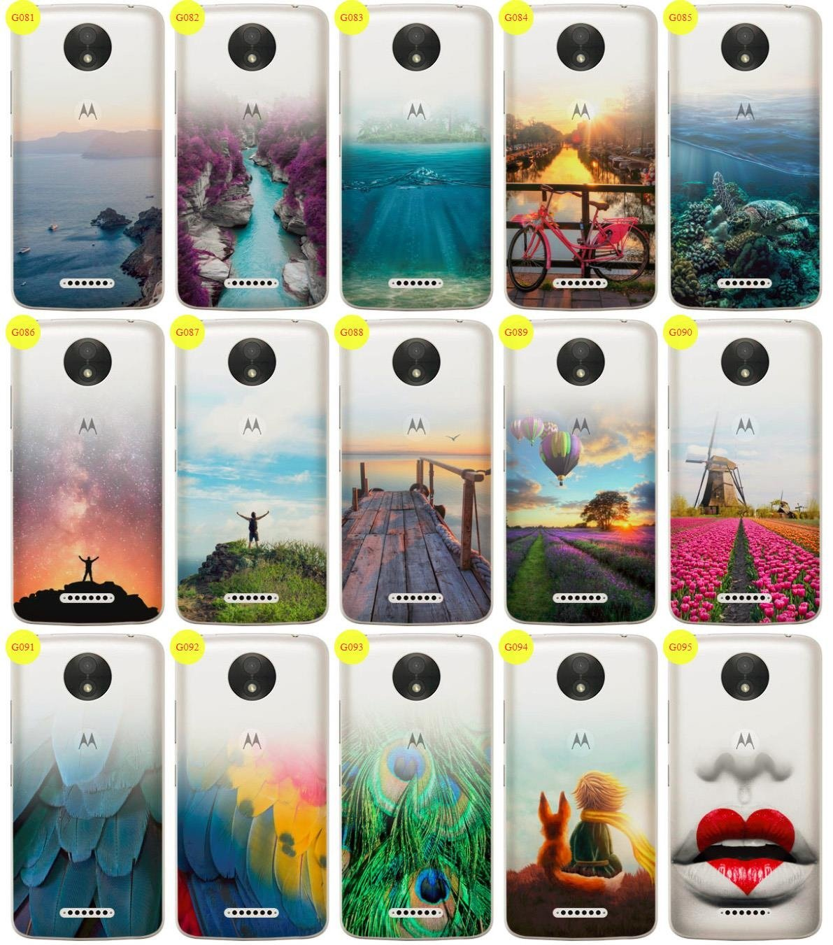 Case Cover Overprint Kreatui GRADIENT MOTOROLA MOTO C PLUS