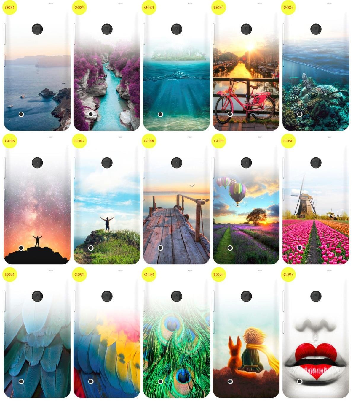 Case Cover Overprint Kreatui GRADIENT NOKIA LUMIA 530 + GLASS 9H