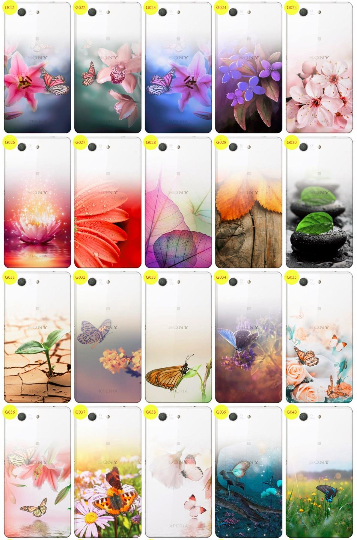 Case Cover Overprint Kreatui GRADIENT SONY XPERIA Z3 COMPACT +GLASS 9H