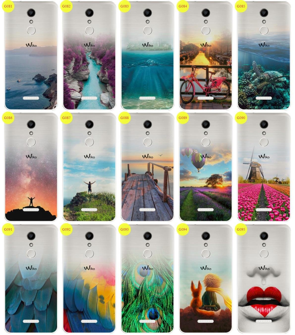 Case Cover Overprint Kreatui GRADIENT WIKO UPULSE LITE + GLASS 9H