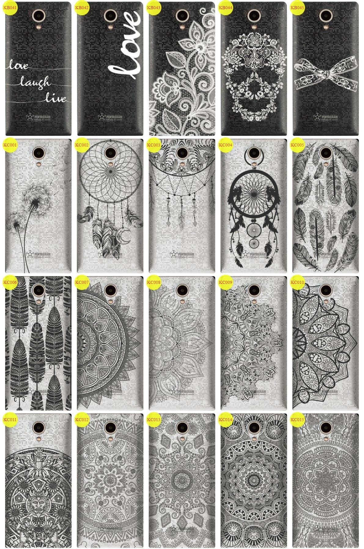 Case Cover Overprint Kreatui LaceCase PENTAGRAM REBEL 4.7 P470-1