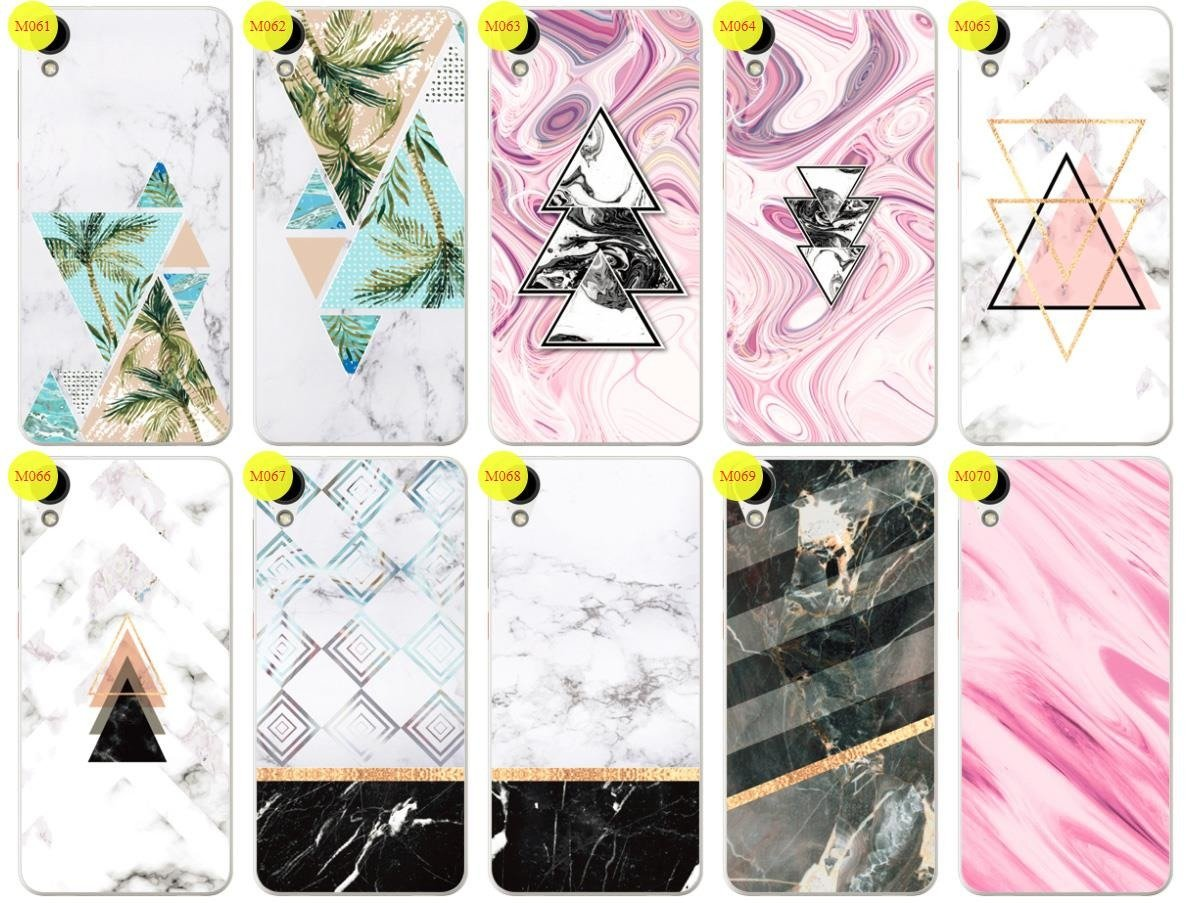 Case Cover Overprint Kreatui MARBLE HTC DESIRE 825 + GLASS 9H