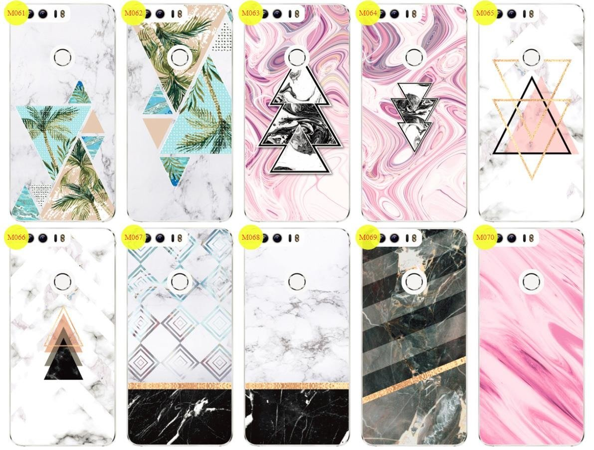Case Cover Overprint Kreatui MARBLE HUAWEI HONOR 8 + GLASS 9H